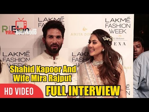 Shahid Kapoor And Mira Rajput Full Interview | Lakme Fashion Week 2018 | LFW Day 01