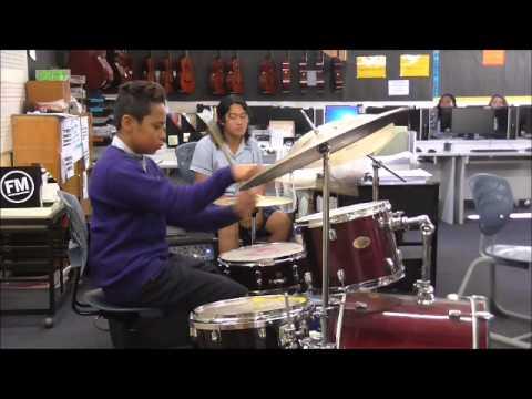 Otahuhu College Music Department  Y10 Solo 2015  Afa  Uptown Funk drum
