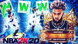 I won RUSH 1v1 on my LEGEND INSIDE-OUT PLAYMAKER in 10 minutes .. BEST BUILD IN NBA 2K20!