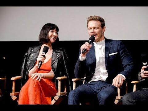 Sam Heughan and Caitriona Balfe  You got that thing