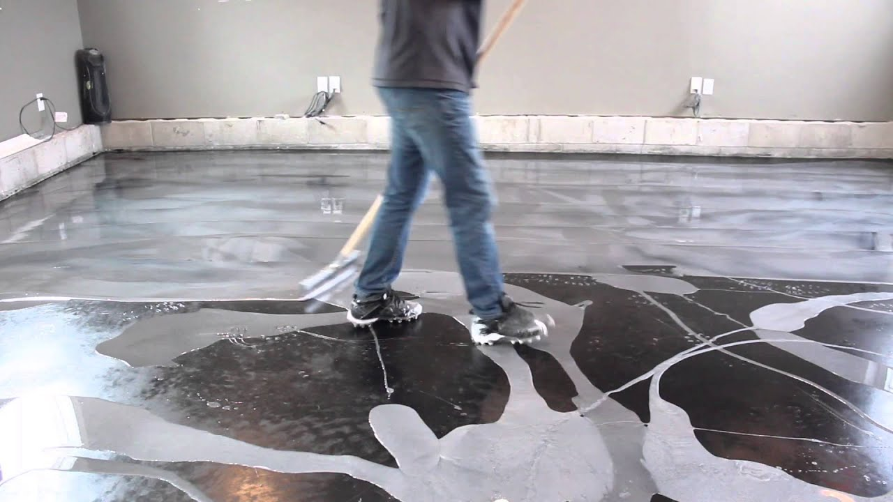 Designer Epoxy Floor Installation Youtube