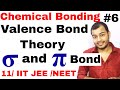 11 chap 4 || Chemical Bonding 06 || Valence Bond Theory VBT || Difference between sigma and Pi Bond
