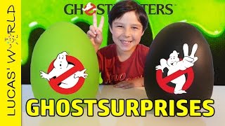 GHOSTBUSTERS PLAY-DOH SURPRISE EGGS! New Ghostbusters Movie Toys ECTO-1 ECTO-2 & Figures PART 1