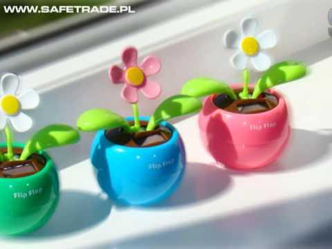 Słoneczny Kwiat - Gadżet Relaksująca Ozdoba Na Biurko Praca Dom [www.safetrade.pl]