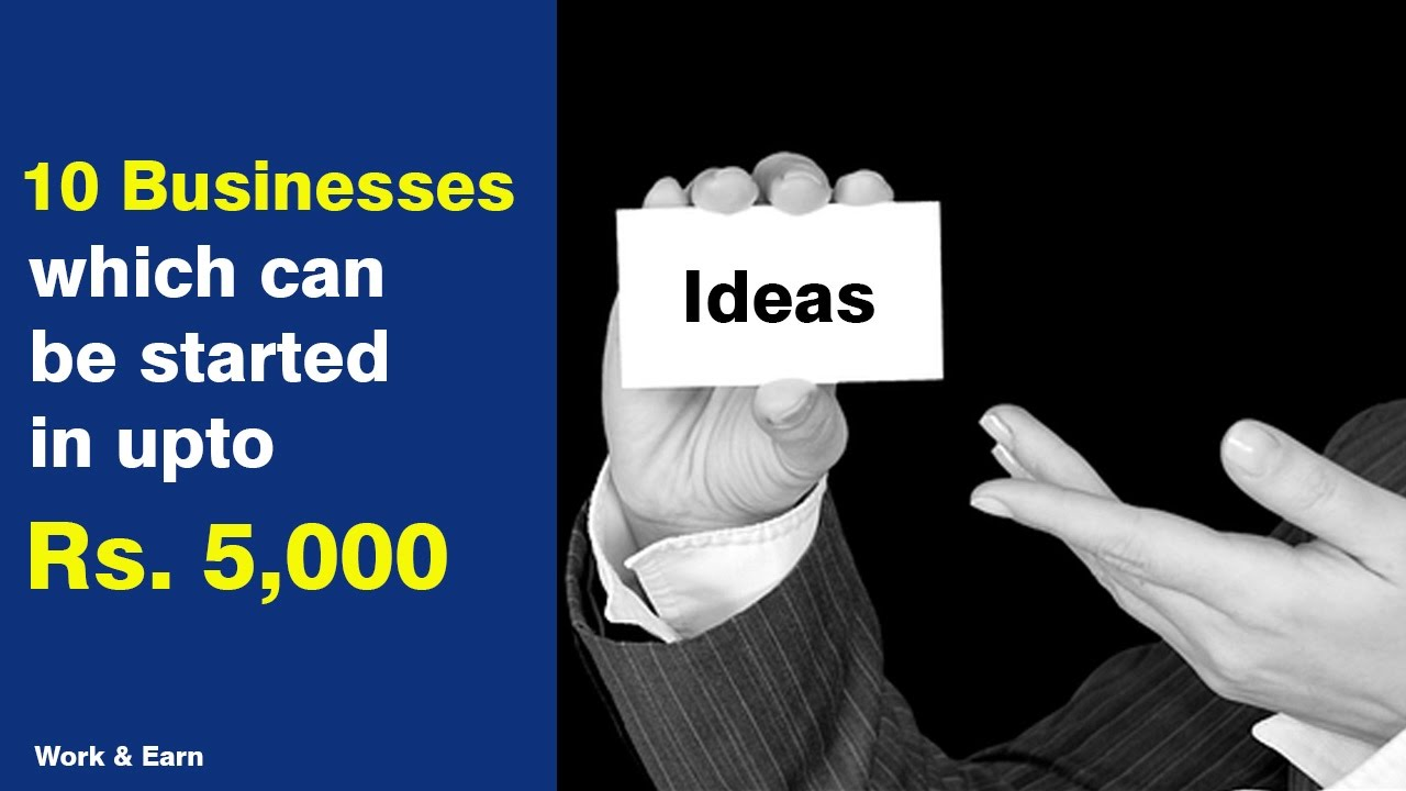 Business Ideas Under Rs  Small Business Ideas Business Ideas For Youngsters
