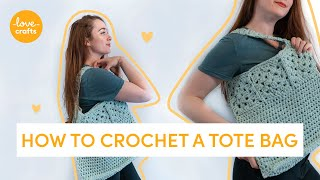 How to Crochet | Easy market tote bag