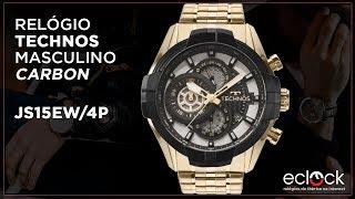 Relógio Technos Masculino Carbon JS15EW 4P - Eclock 7db9b9142c