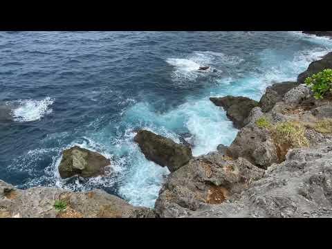 Zanpa Waves Crashing Against the Rocks