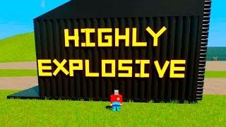Lego HIGHLY Explosive Crashes   Brick Rigs