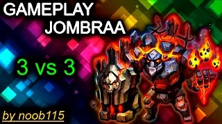 Heroes of Order and Chaos [HOC]: Gameplay Jombraa (Planewalker)! THAT NOOB TEAM!