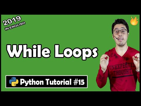 While Loops in python | Python Tutorial #15 thumbnail