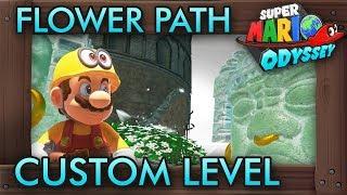 A Very Creative Flower Path Custom  Level - Super Mario Odyssey Maker