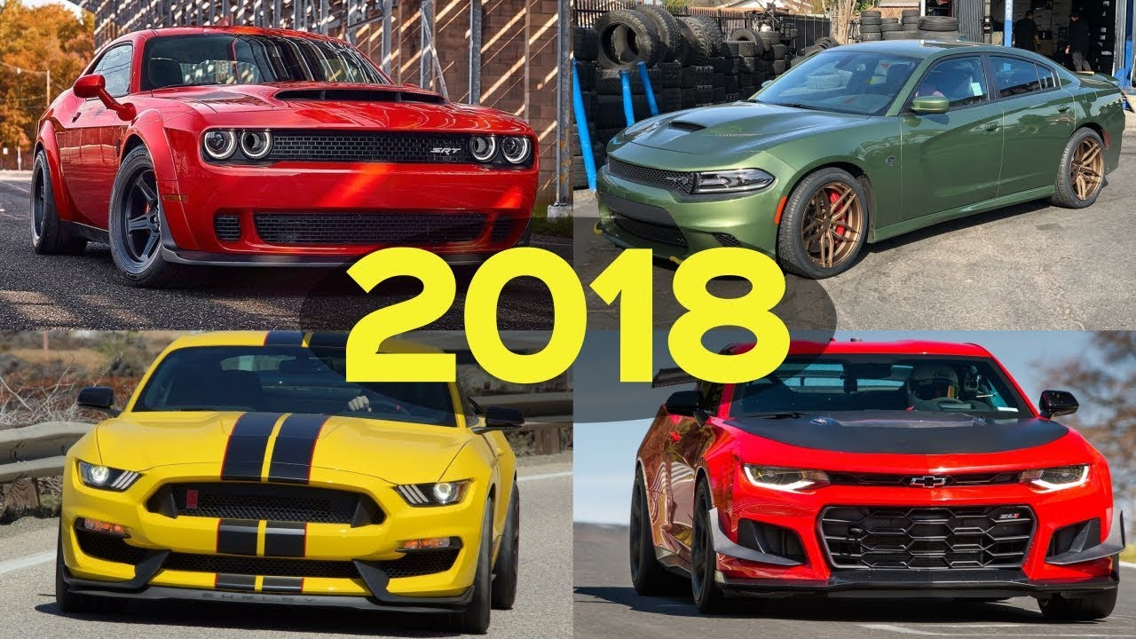 2018 Muscle Car Comparison Dodge Chevy Ford
