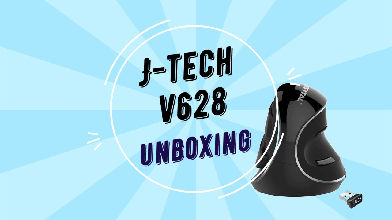 J-Tech v628 Vertical Mouse Unboxing and Quick Look