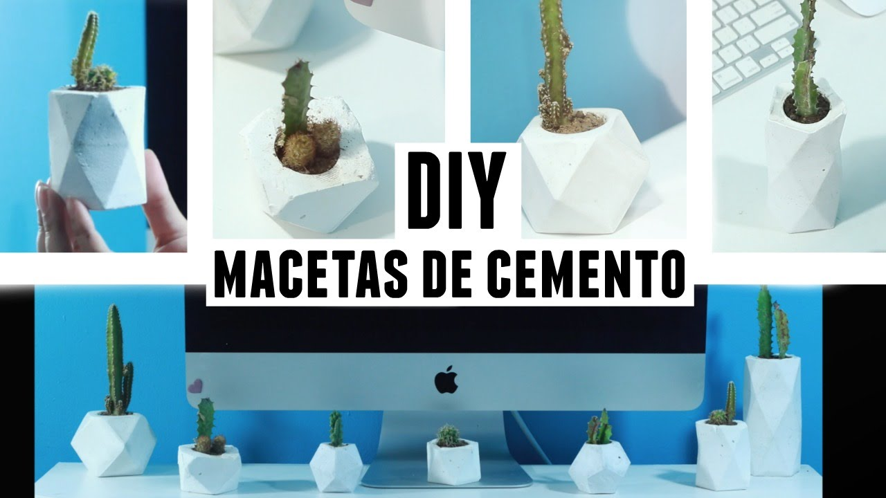 Diy macetas de cemento coco youtube for Macetas de cemento