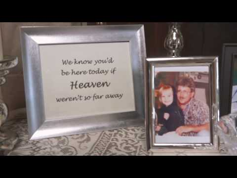 Her Father is in Heaven, so for her Father+Daughter Dance, Katie's family did this..