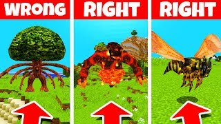 Minecraft: DO NOT CHOOSE THE WRONG BOSS! (Treant, Volcan & Giant Wasp)