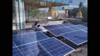6KW Solar Hybrid Solution to HP Petrol Bunk Shivamogga by Go Green Solutions Bangalore