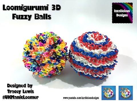 Rainbow Loom Loomigurumi Fuzzy Ball - 3D Ball