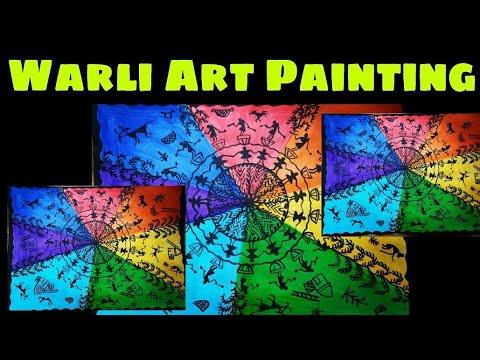 How to start Warli Art    Indian Folk art    Warli art    warli painting    Indian warli art   