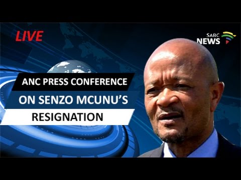 Media conference on the resignation of Senzo Mchunu