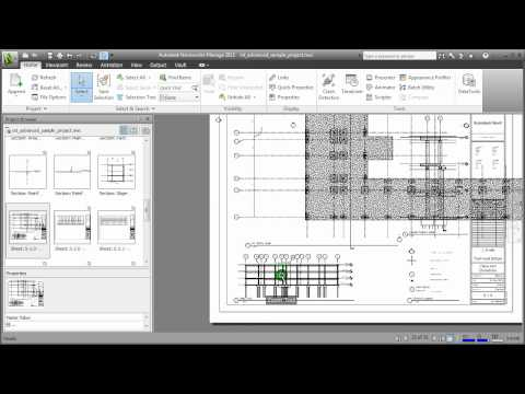 Cross-referencing NWC models with 2D DWF sheets in Navisworks