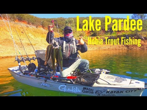 Lake Pardee Trout Fishing On Kayaks 2018 With Chue