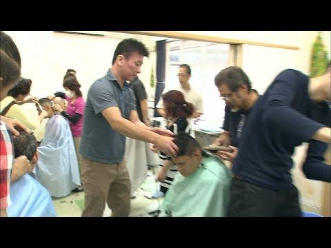理容ボランティアの日 岡山市の福祉施設で出張散髪