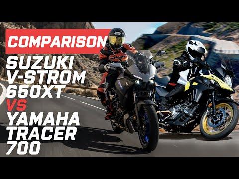 Suzuki vs Yamaha: 2020 Yamaha Tracer 700 vs Suzuki V-Strom 650XT | Visordown.com