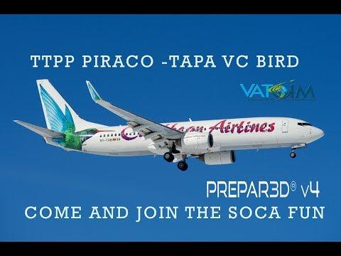 [Prepar3D v4] TTPP-TAPA - REAL WORLD OPS - PMDG 737NGX- VATSIM - AS16 BAD WEATHER