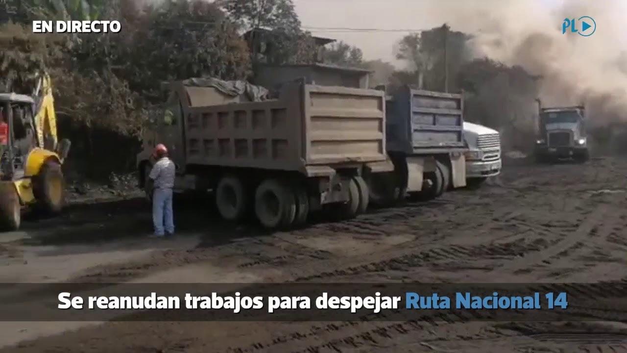 EN VIVO | Reanudan trabajos para despejar Ruta Nacional 14 - YouTube