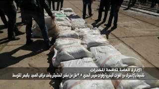 بالفيديو..ضبط 3500 كيلو حشيش قبل دخولها مصر