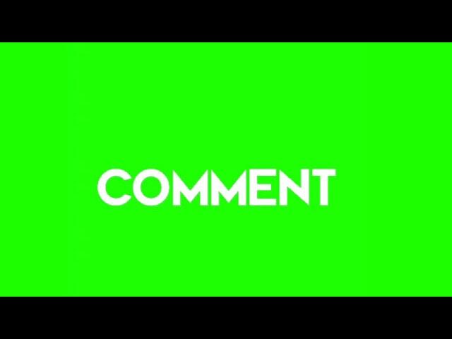 comment green screen video, comment green screen clip