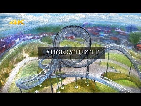 Duisburg achterbahn(Roller Coaster): Tiger &Turtle – Magic Mountain 4K