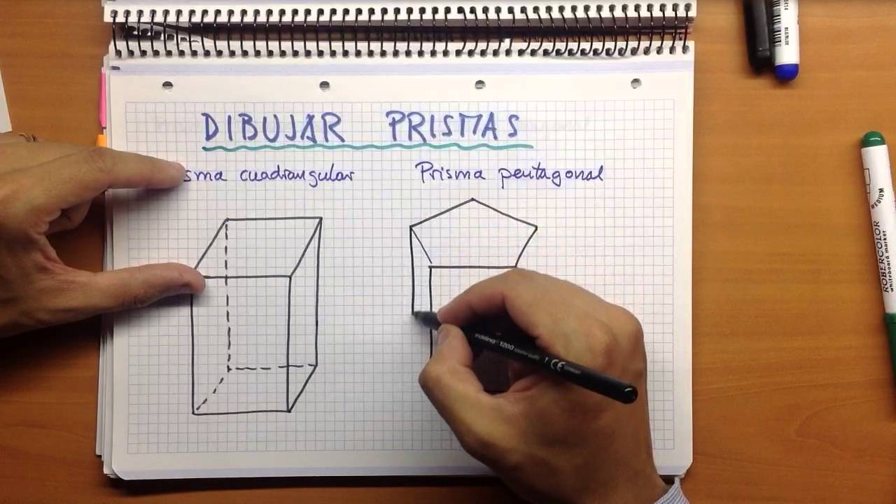 Dibujar prismas youtube for Como hacer un sobre rectangular