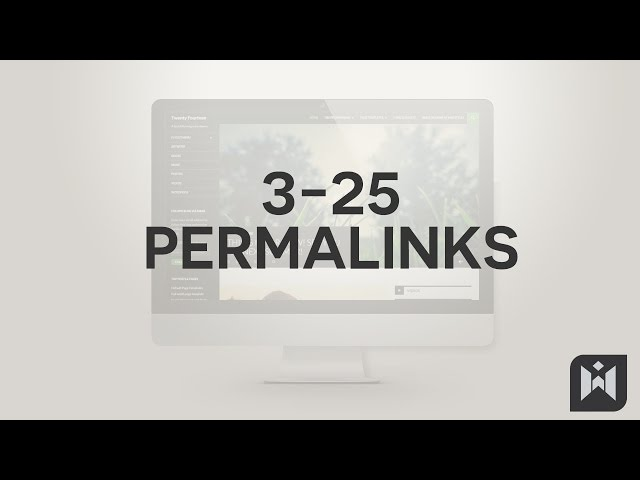 WordPress for Beginners 2015 Tutorial Series | Chapter 3-25: Permalinks