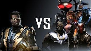 BLACK LIGHTNING VS DLC DIALOGUES (BlackManta/Darkseid/RedHood/SubZero/Starfire/Raiden) | INJUSTICE 2