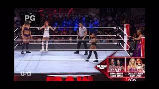 Charlotte Flair Becky Lynch VS Bianca Belair Sasha Banks WWE Raw October 11 2021