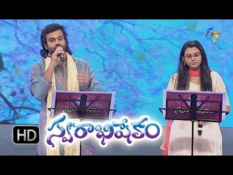 Vaadina Poole Song - Sreerama Chandra,Pranavi Performance in ETV Swarabhishekam - 18th Oct 2015