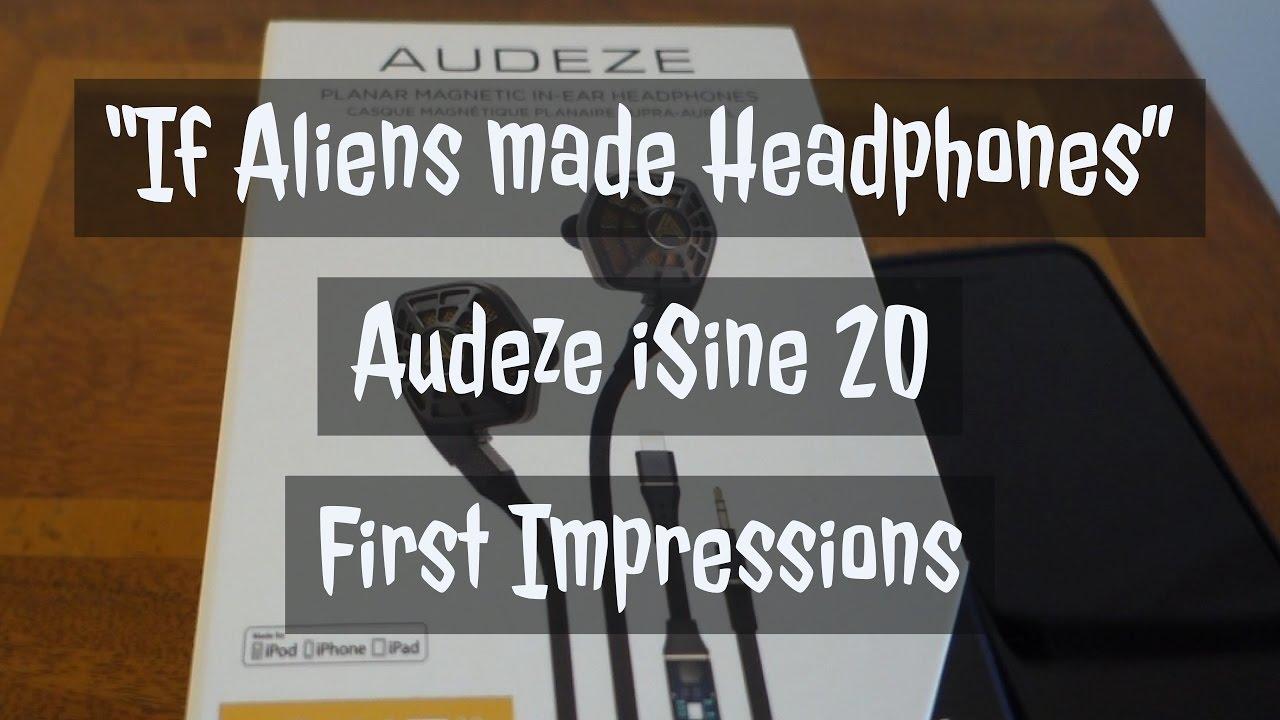 e90ec3fdeba Audeze iSine 20 - First Impressions - World's First In-Ear Planar Magnetic  Headphones