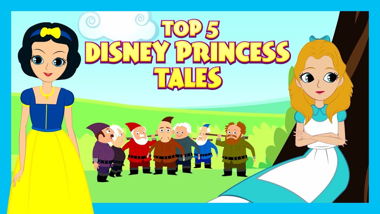 Top 5 Disney Princess Tales | Fairy Tales For Kids| Fairy Tales In English |Tia & Tofu Storytelling