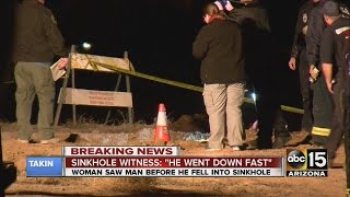 Man killed after falling down sinkhole in Queen Creek