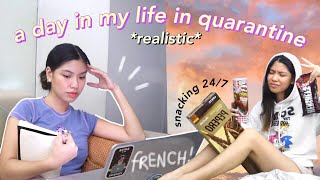 a *realistic* day in my life in quarantine