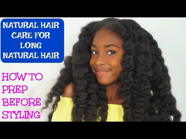 KIDS NATURAL HAIR CARE ROUTINE ( HOW I PREP BEFORE BRAIDS, CORNROWS)