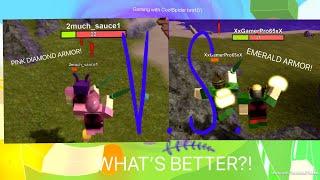 ROBLOX Booga Booga | PINK DIAMOND V.S EMERALD!!! *WHAT'S BETTER?! *