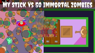 My little magic STICK vs 50 Immortal Zombies | EPIC (Halloween Map) - braains.io