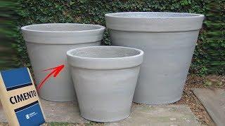 Aprendendo a fazer Vasos de Planta com Cimento – Usando Forma