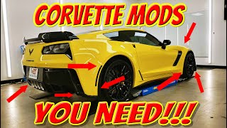 Easy Corvette Mods YOU Can Do To Make a HUGE Difference on A C7 Stingray, Z06, Grand Sport or ZR1!