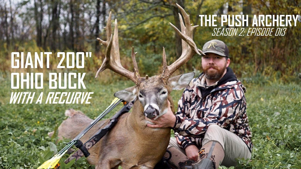 GIANT 200 INCH OHIO BUCK WITH A RECURVE!! - Traditional Bowhunting- Season 2: Episode 013