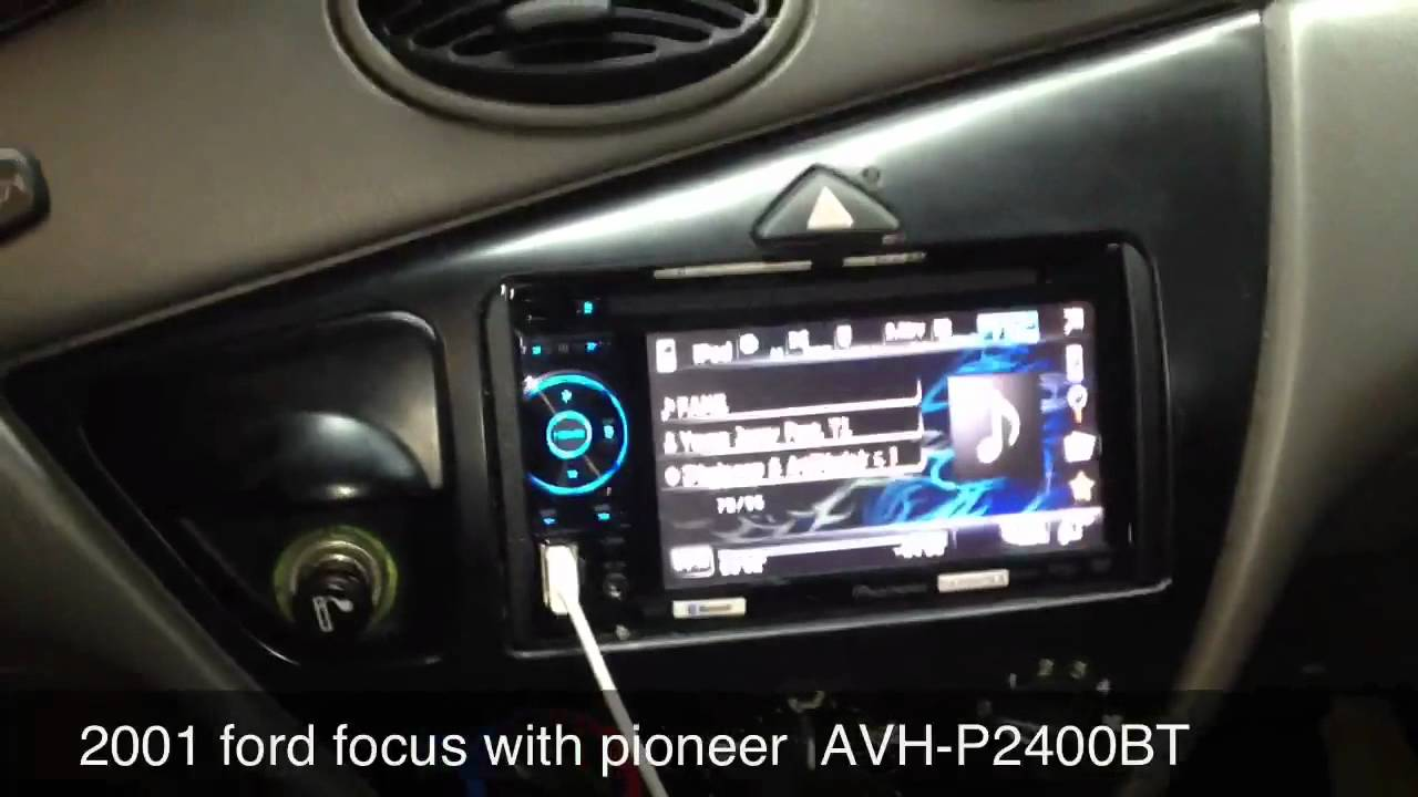 ford focus 2001 with pioneer avh p2400bt youtube. Black Bedroom Furniture Sets. Home Design Ideas